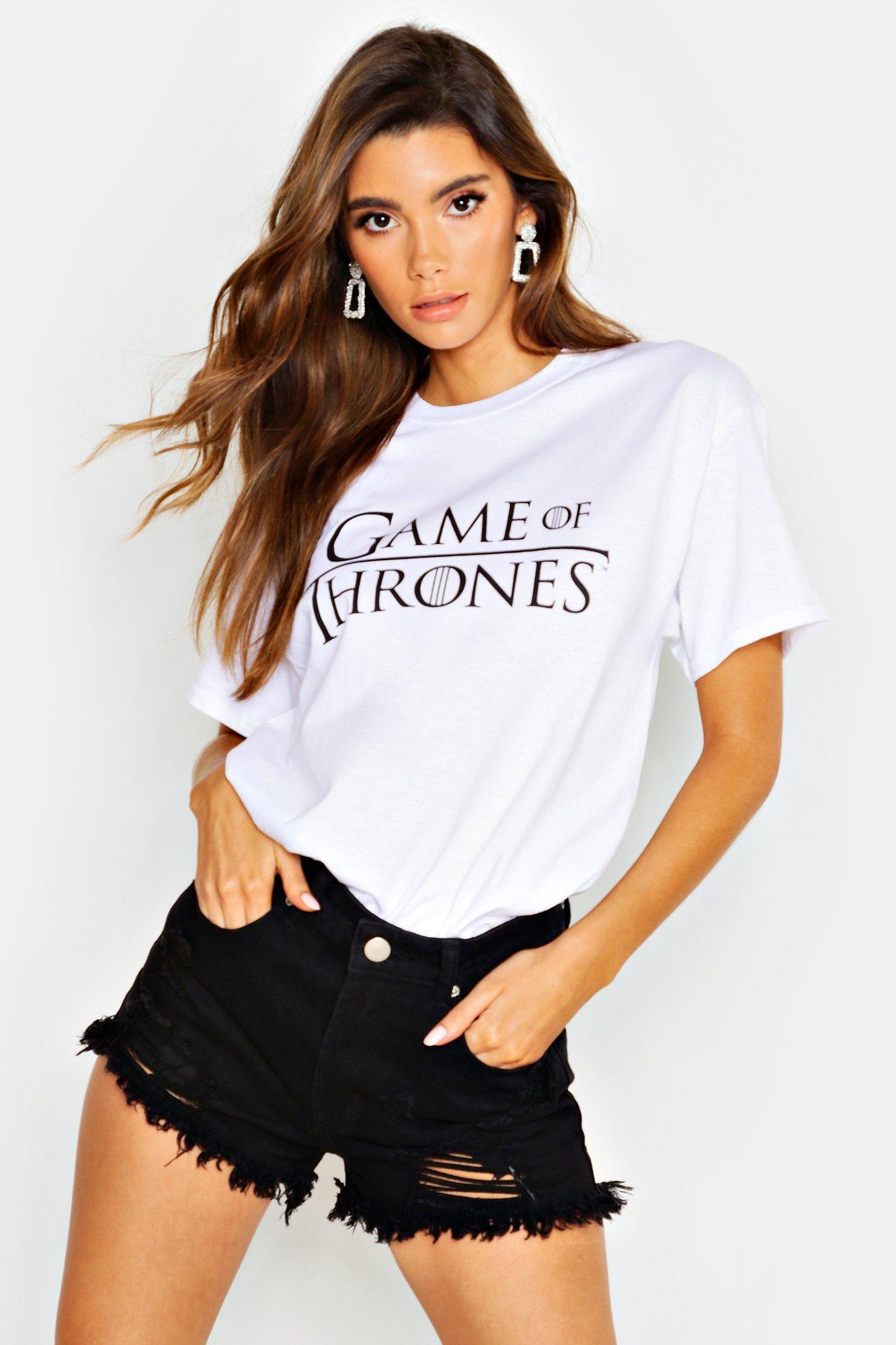 Womens Game Of Thrones Lizenziertes T-Shirt - Weiß - M, Weiß - Boohoo.com