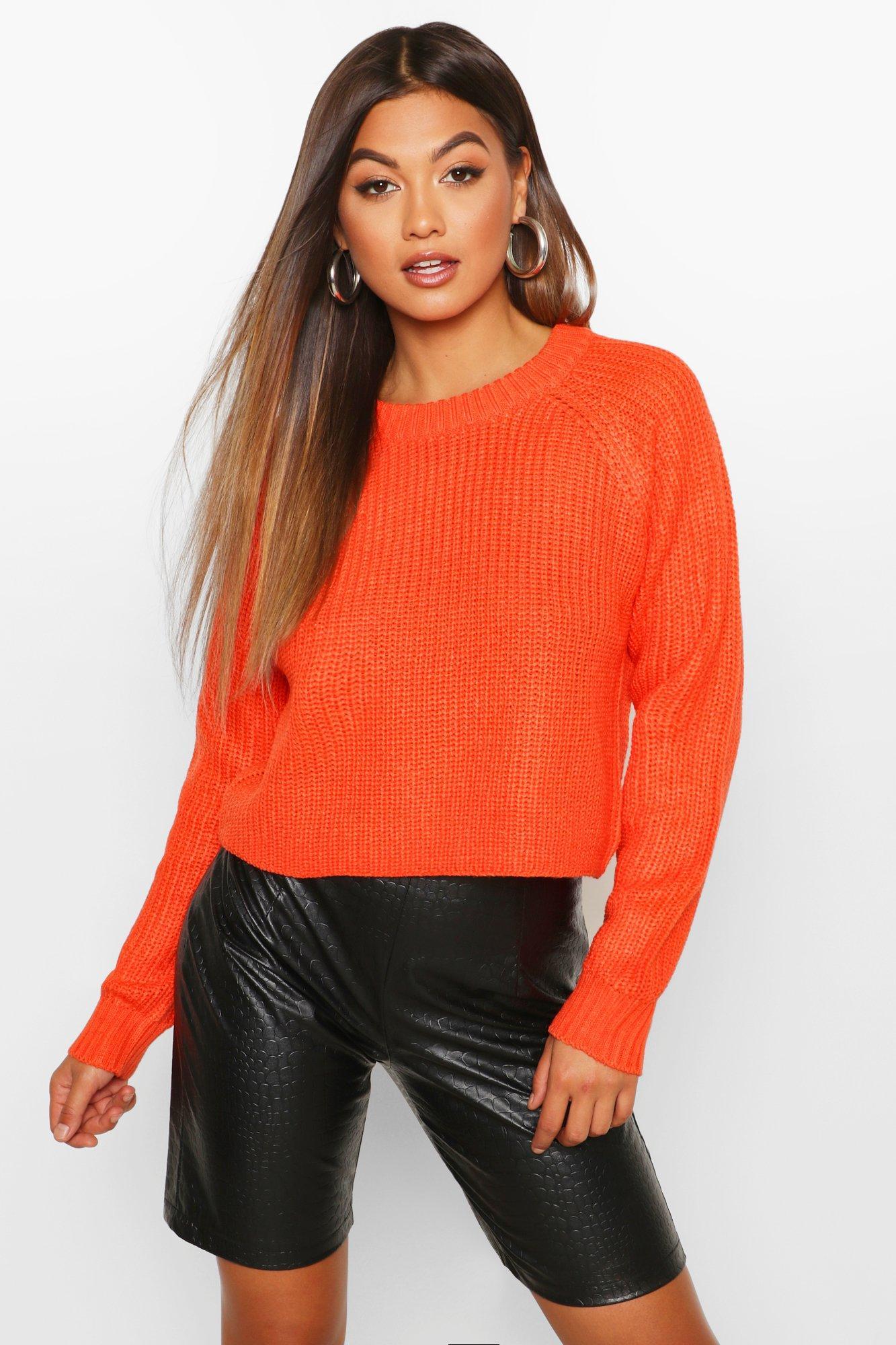 Womens Pullover mit Raglanärmeln - orange - S, Orange - Boohoo.com