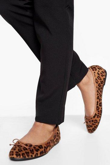 Leopard Round Toe Ballet Flats