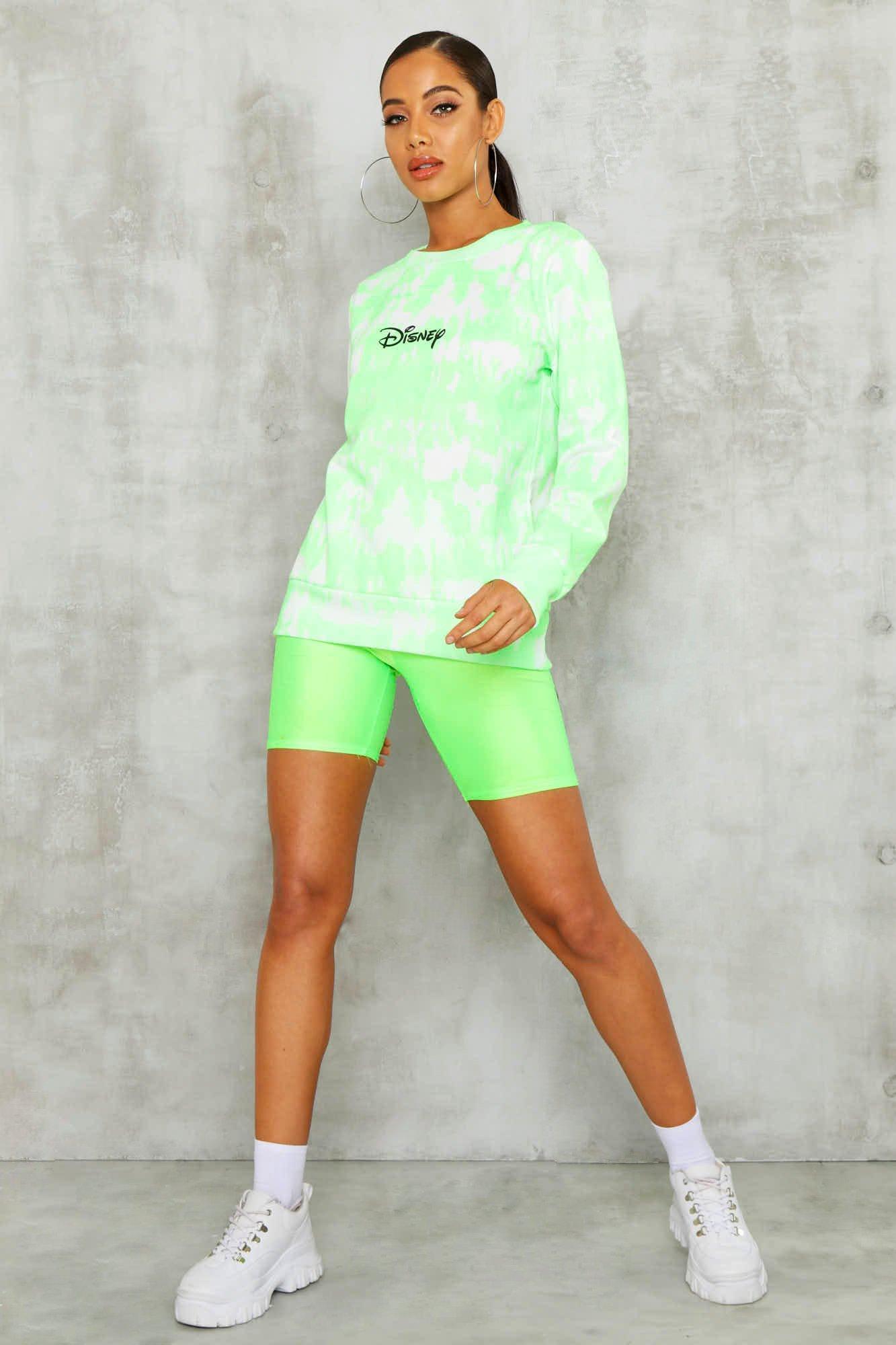 Womens Lizenziertes Disney Sweatshirt mit Print - Limettengrün - 32, Limettengrün - Boohoo.com