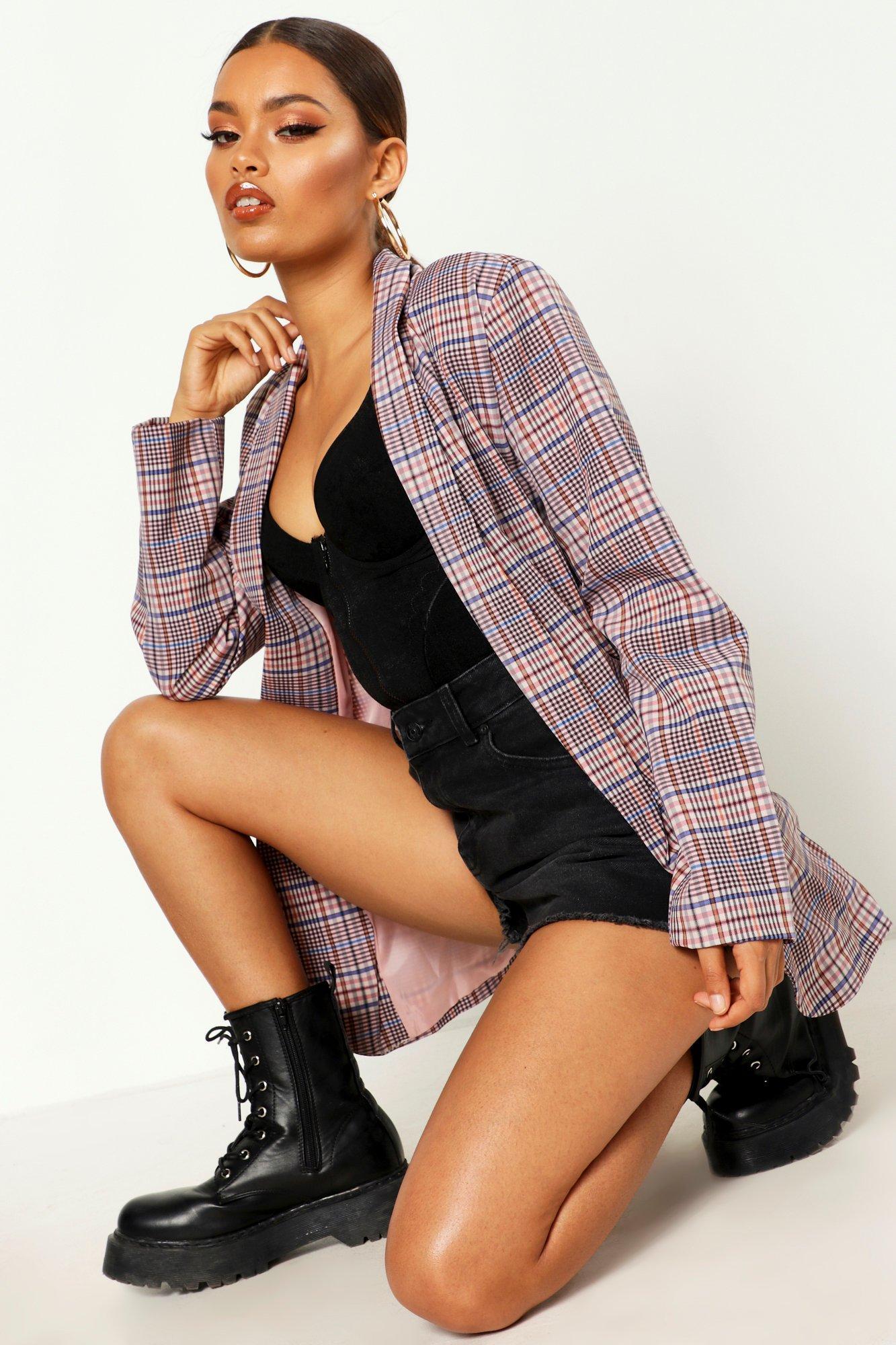 Купить Coats & Jackets, Розовый блейзер в клетку, boohoo