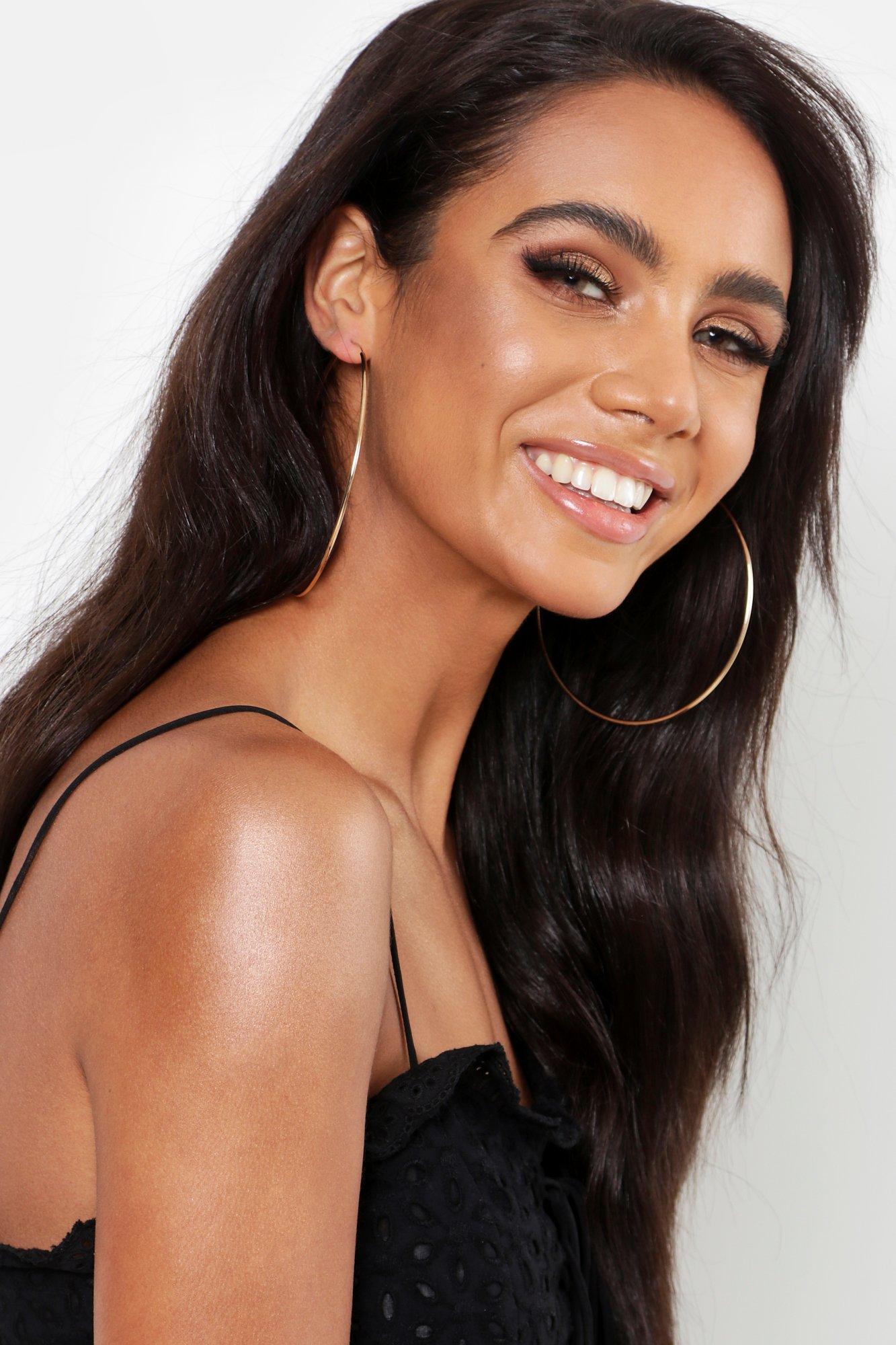 boohoo Womens Oversized 9Cm Gold Hoop Earrings - Metallics - One Size, Metallics