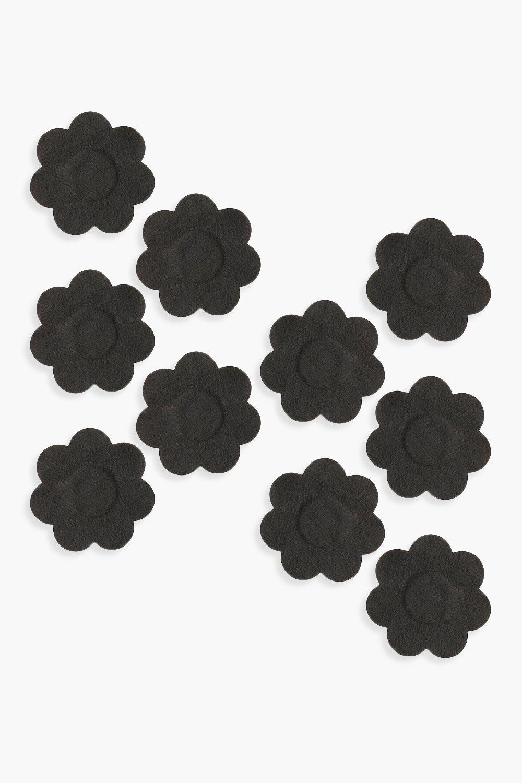 boohoo Womens Underwhere? Disposable Nipple Daisies - Black - One Size, Black