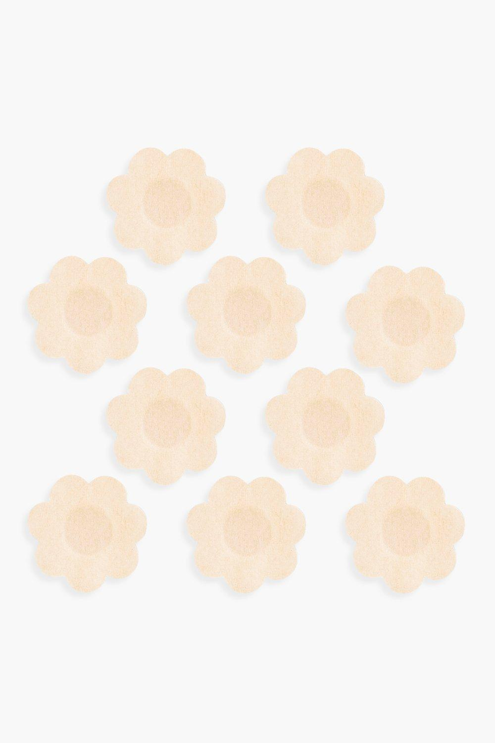 boohoo Womens Underwhere? Disposable Nipple Daises- Nude - Beige - One Size, Beige