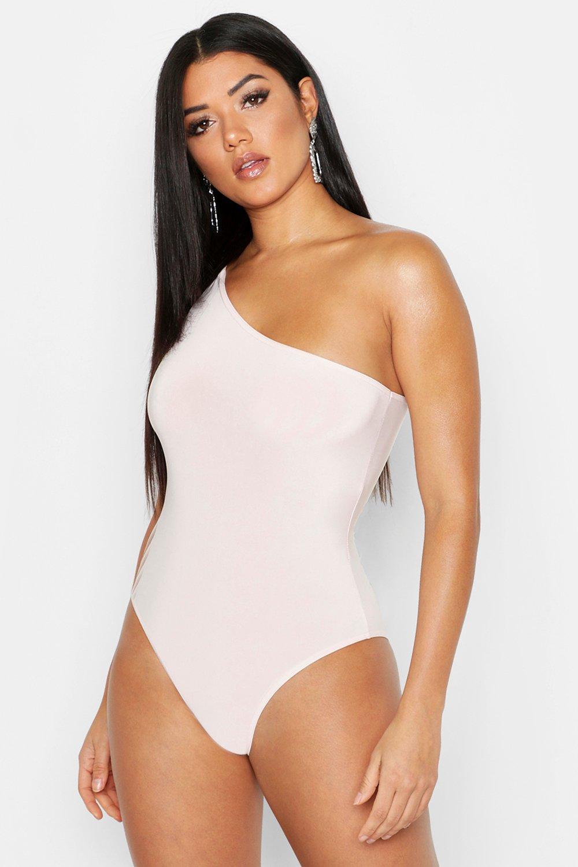 Womens One-shoulder Body - hautfarben - 32, Hautfarben - Boohoo.com