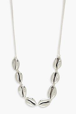 Silver Shell Choker Necklace
