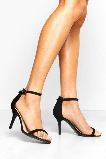 Black Wide Fit Low Heel 2 Parts