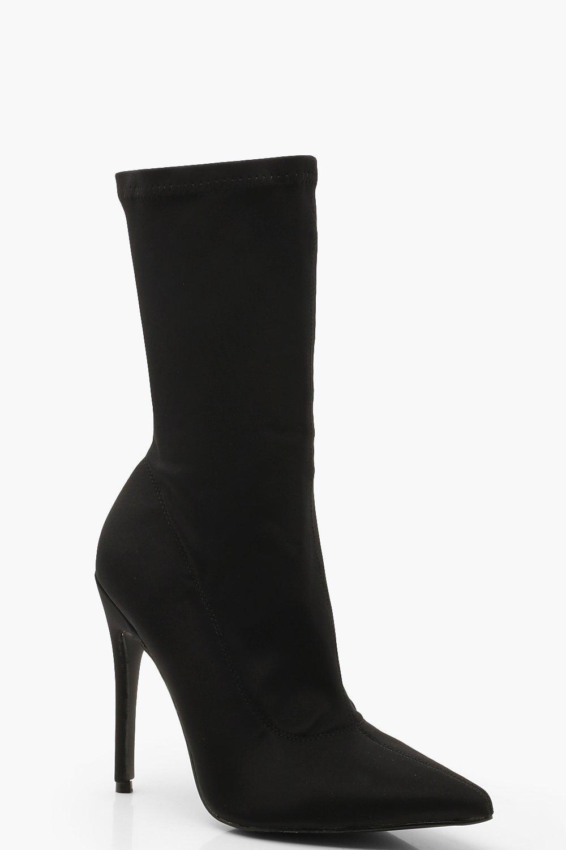 Купить Boots, Сапоги-чулки на шпильке с остроконечным носком, boohoo