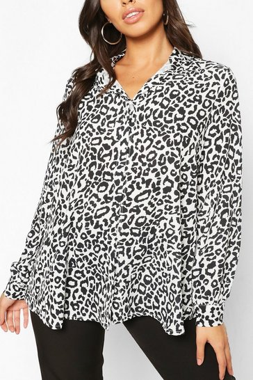 Multi Woven Tonal Leopard Shirt