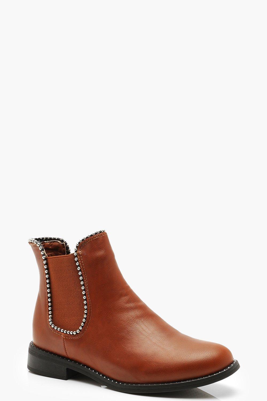 Купить Boots, Ботинки челси с отделкой бусинами, boohoo