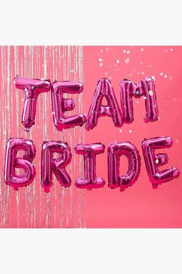 Pink Team Bride Balloon Bunting