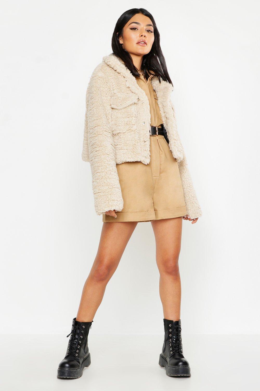 Coats & Jackets, Faux Fur Teddy Trucker Jacket, boohoo  - купить со скидкой
