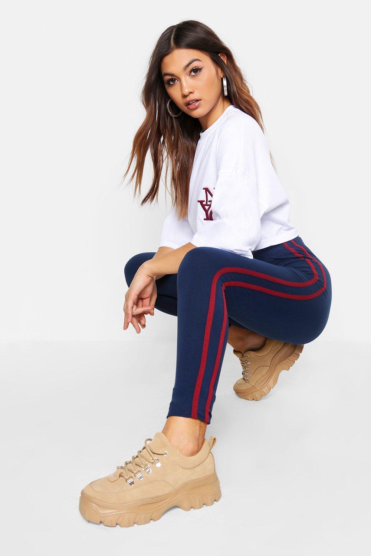 Купить Super Soft Side Stripe Leggings, boohoo