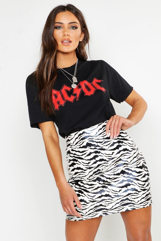 Womens Oversized lizenziertes ACDC T-Shirt - schwarz - S, Schwarz - Boohoo.com