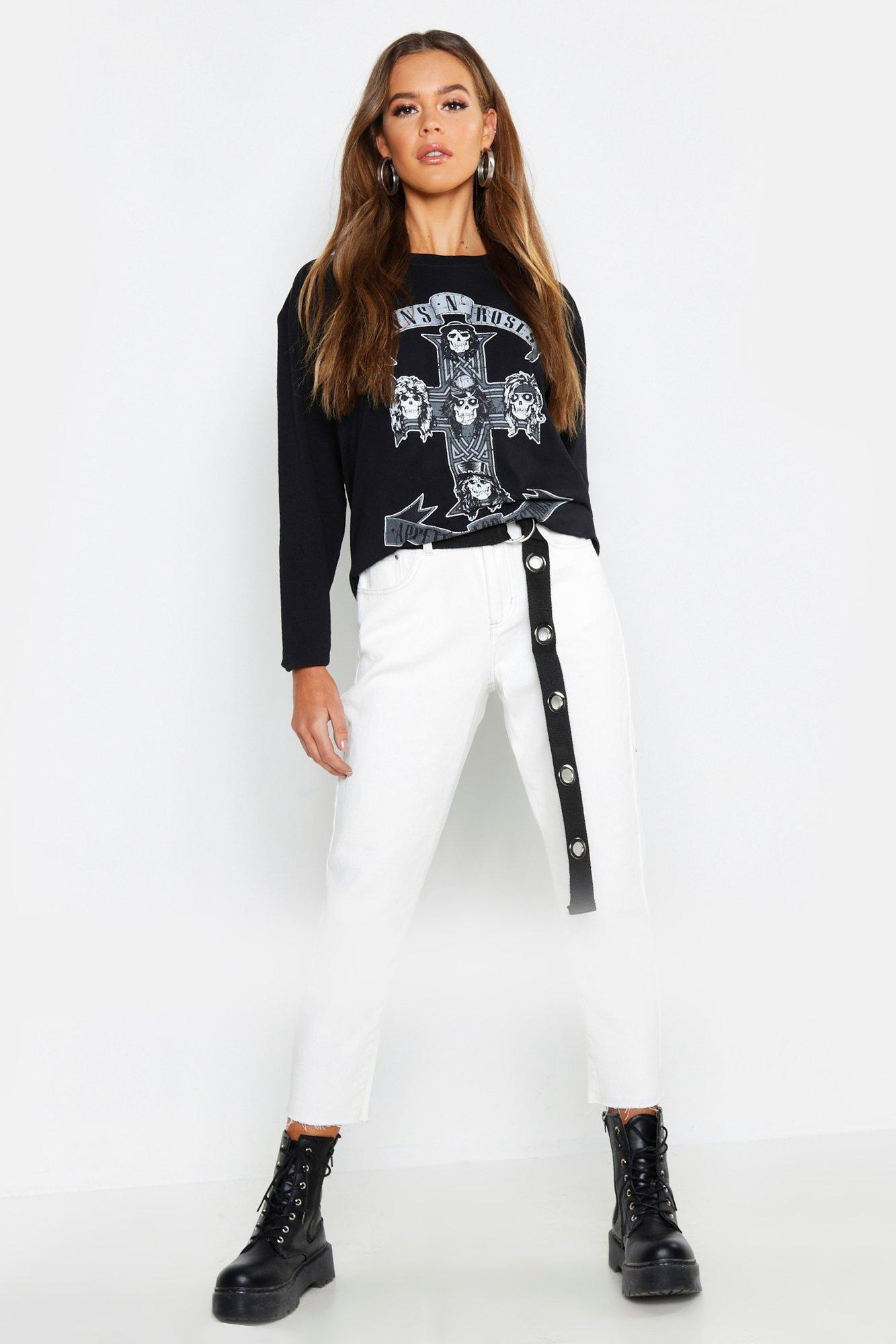 Купить Tops, Guns N Roses Long Sleeve Licensed T-shirt, boohoo