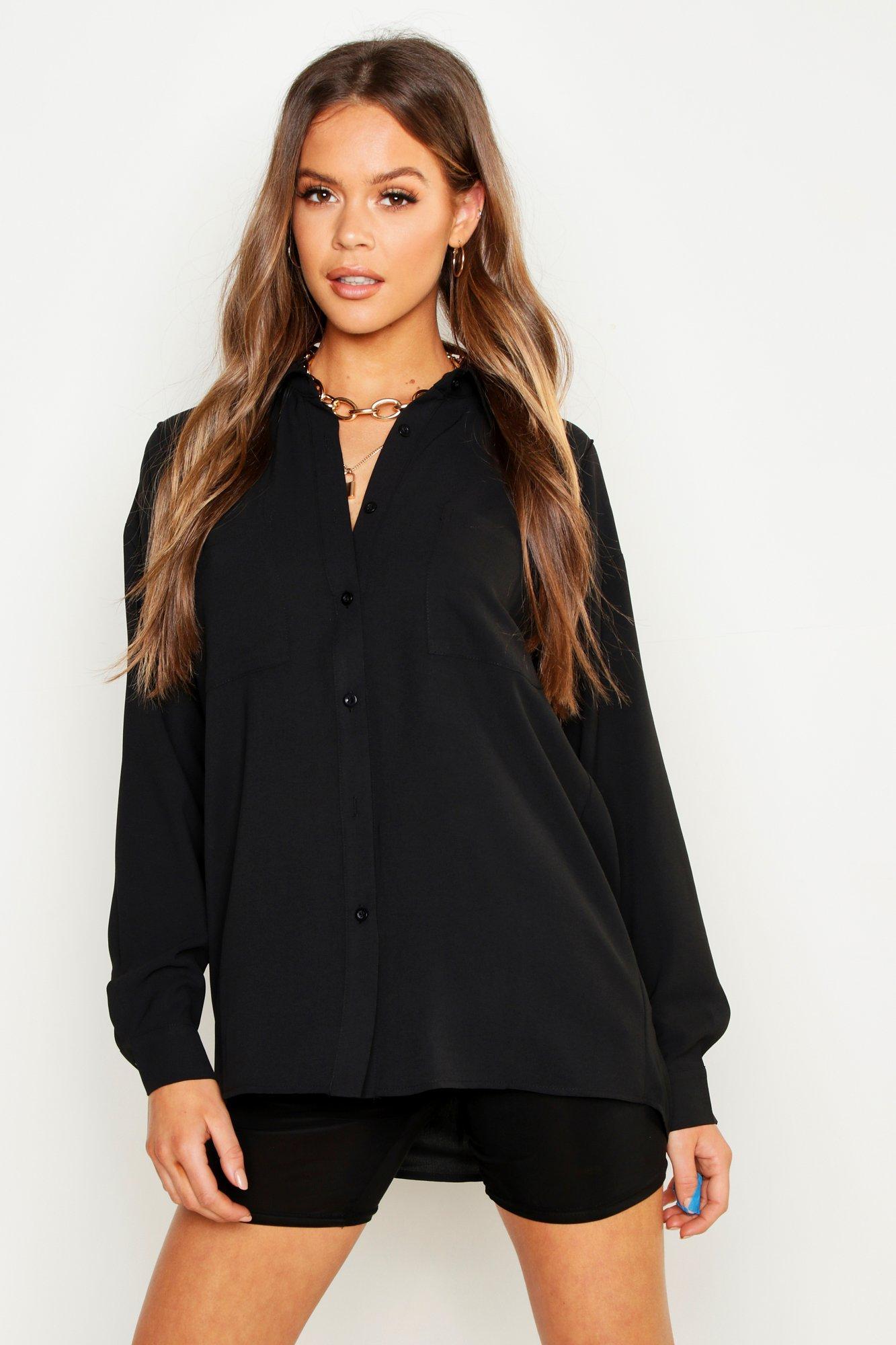 Womens Oversized T-Shirt mit Baumwollfeeling und Nahtdetail - schwarz - 32, Schwarz - Boohoo.com