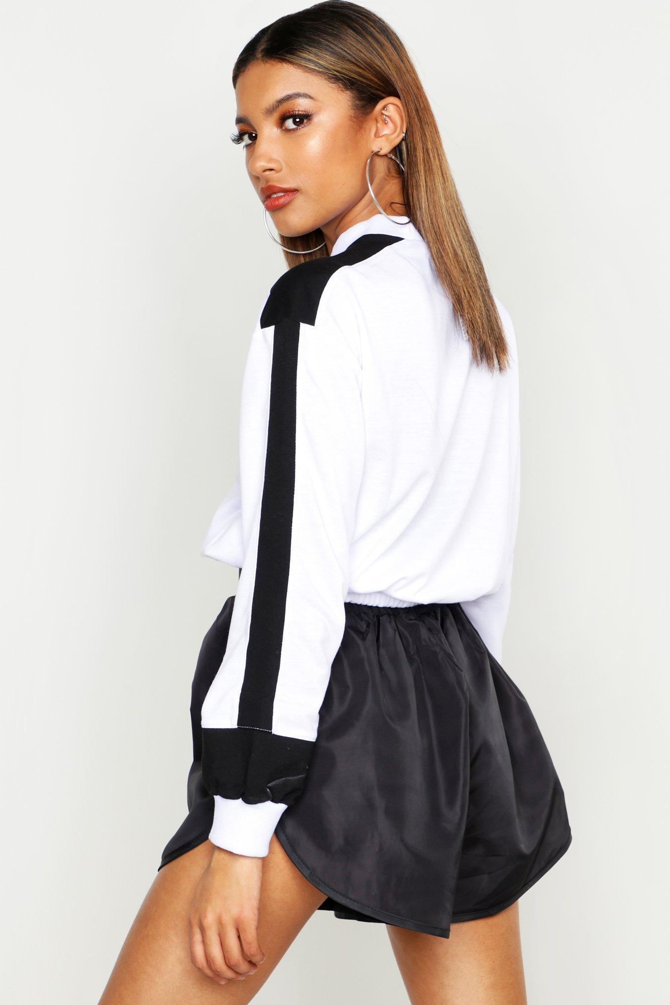 Womens Colorblock-Sweatshirt - Weiß - 36, Weiß - Boohoo.com
