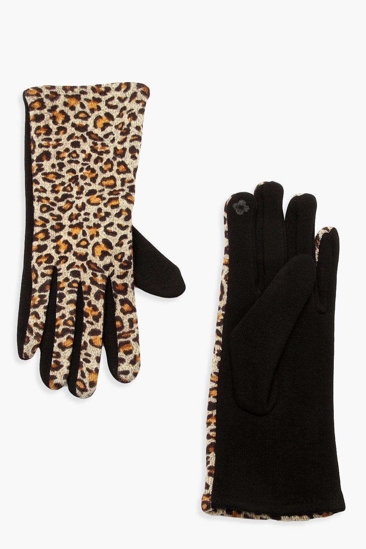 Купить Зимние вязаные вещи, Перчатки Ponti с леопардовым принтом, boohoo