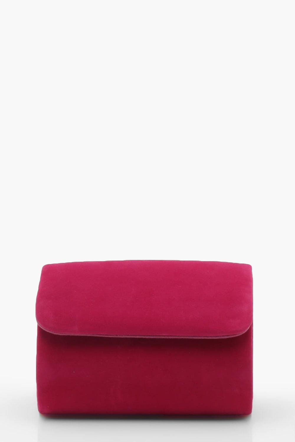 boohoo Womens Micro Mini Suedette Clutch And Chain Bag - Pink - One Size, Pink