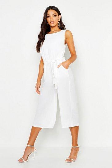Ivory Culotte Jumpsuit