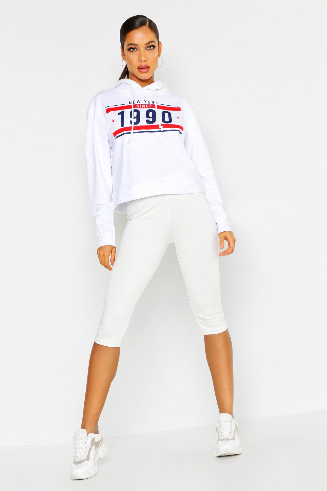 Купить Athleisure, Толстовка оверсайз с капюшоном New York Since 1990, boohoo