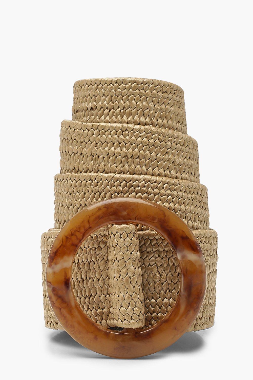 Купить Belts, Ремень из соломки с полимерной пряжкой, boohoo