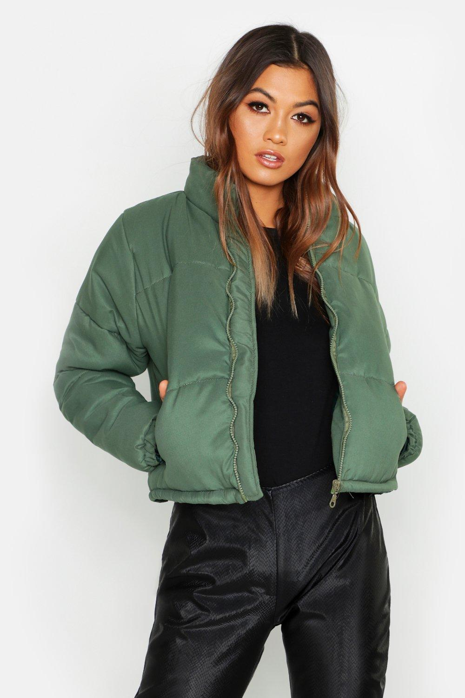 Купить Coats & Jackets, Funnel Neck Puffer Jacket, boohoo