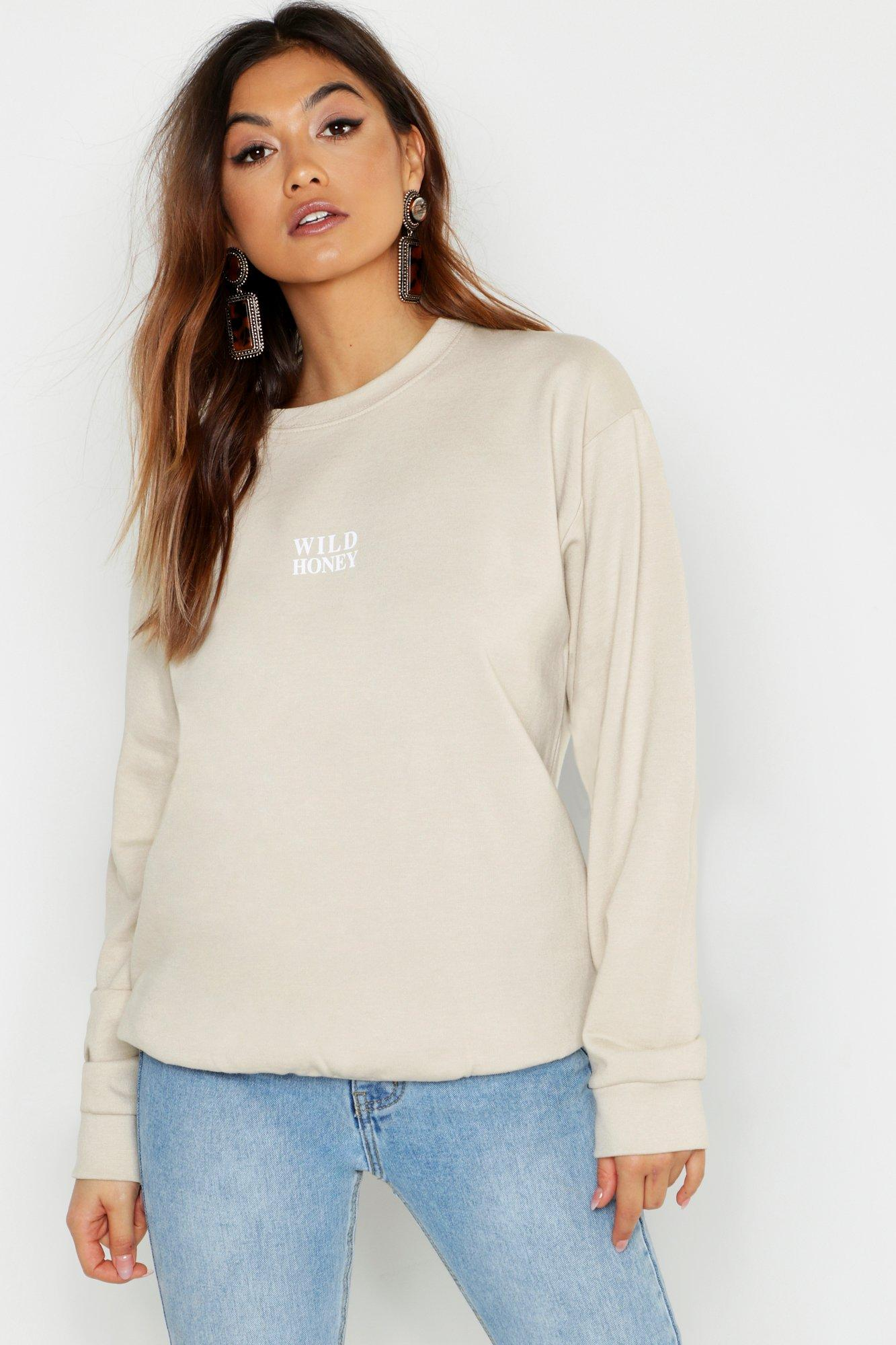 Купить Wild Honey Slogan Sweat, boohoo