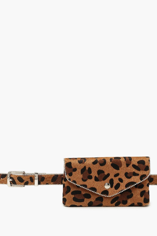 Купить Сумки, Поясная сумка из искусственной шкуры пони с леопардовым принтом, boohoo