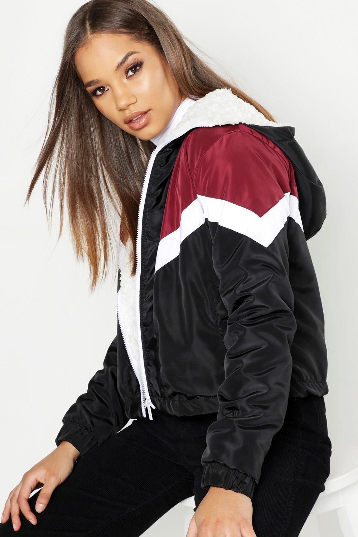 Купить Coats & Jackets, Ветровка Cherron на подкладке из флиса, boohoo