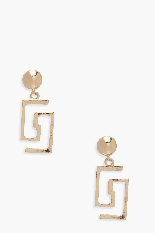 Купить Ювелирные украшения, Геометрические серьги в виде капли, boohoo