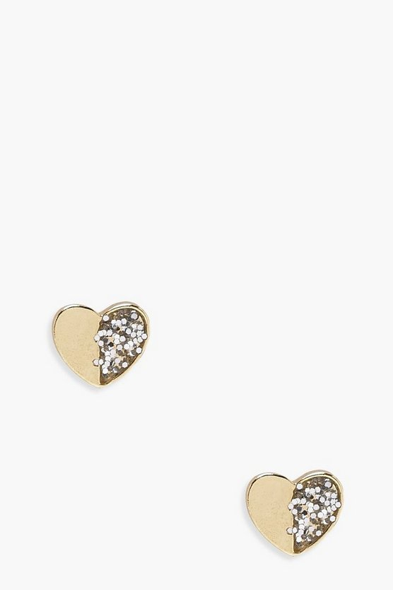 Girls Heart Stud Earrings