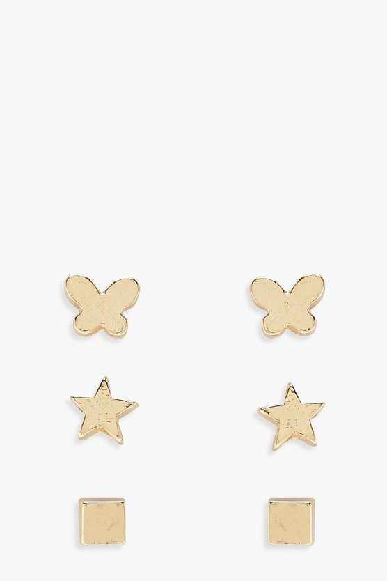 Girls Multi Stud Earring Pack