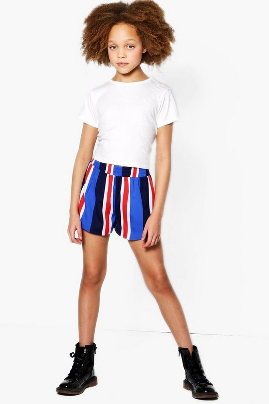 Girls Stripe Runner Shorts