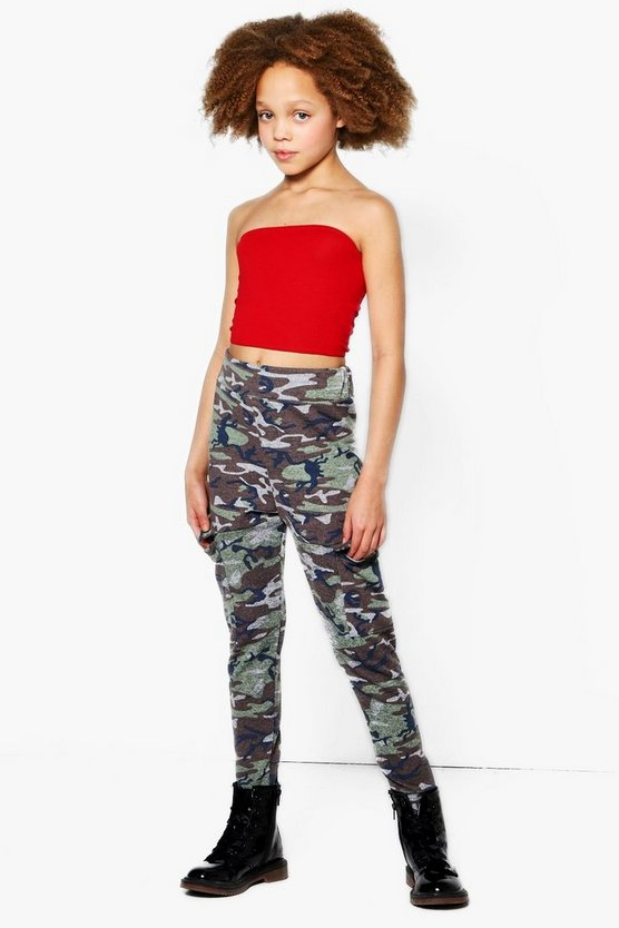 Girls Camo Pocket Jogger