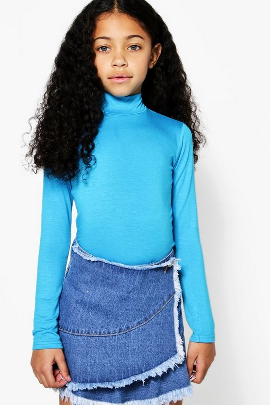 Girls Polo Neck Bodysuit