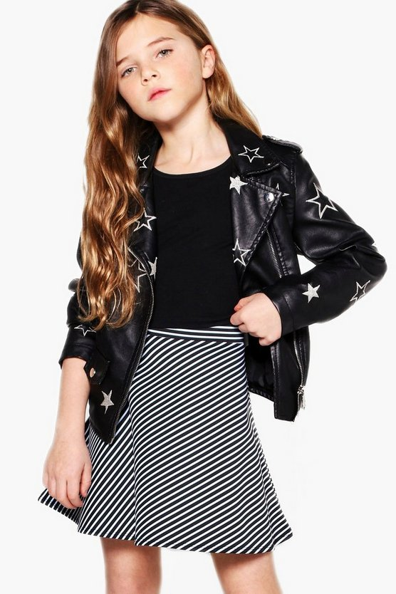 Girls Stripe Skater Skirt