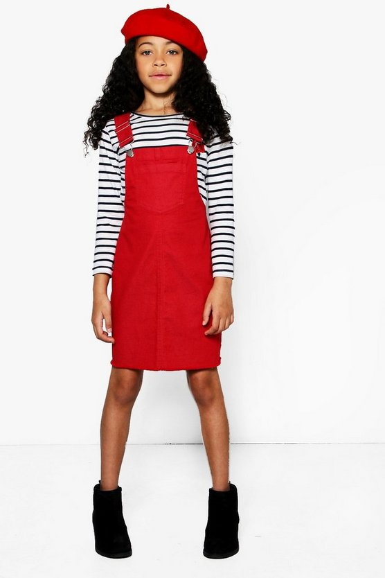 Girls Drop Armhole Pinny Dress