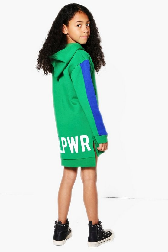 Girls Girls Power Sweat Dress With Hood