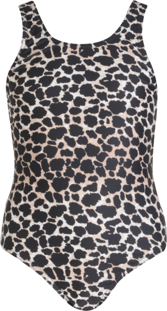 Girls Leopard Print Scoop Swimsuit