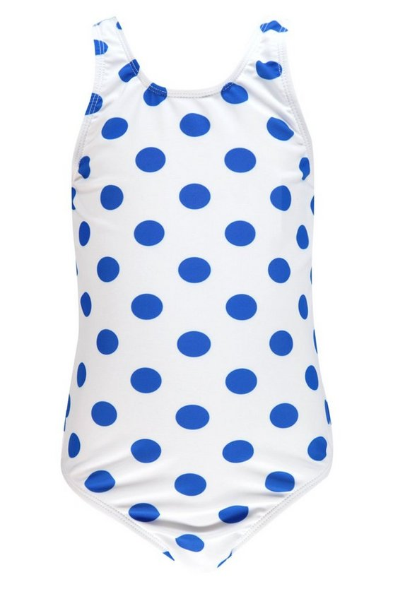 Girls Spot Print Scoop Swimsuit