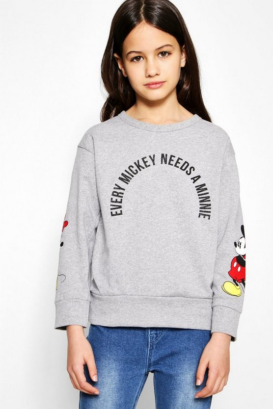 Girls Disney Mickey Needs A Minnie Sweat Top