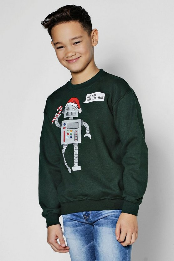 Boys Robot Christmas Sweatshirt