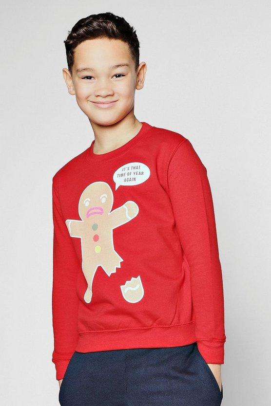 Boys Gingerbread Man Sweatshirt