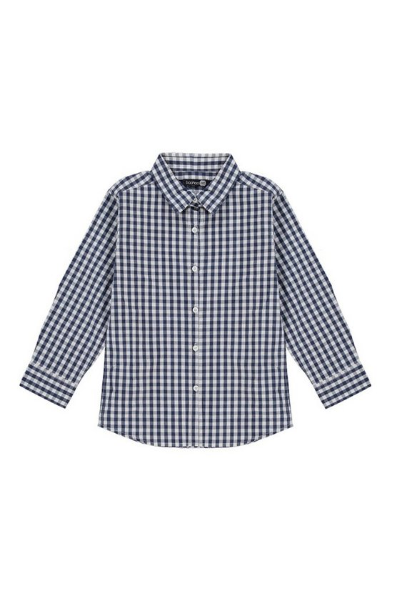Boys Smart Gingham Long Sleeve Shirt