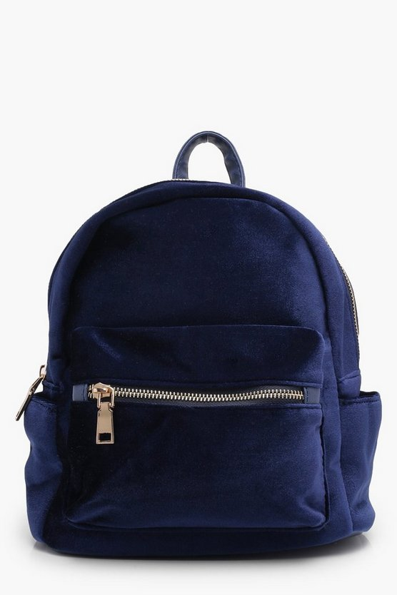 Girls Velour Backpack
