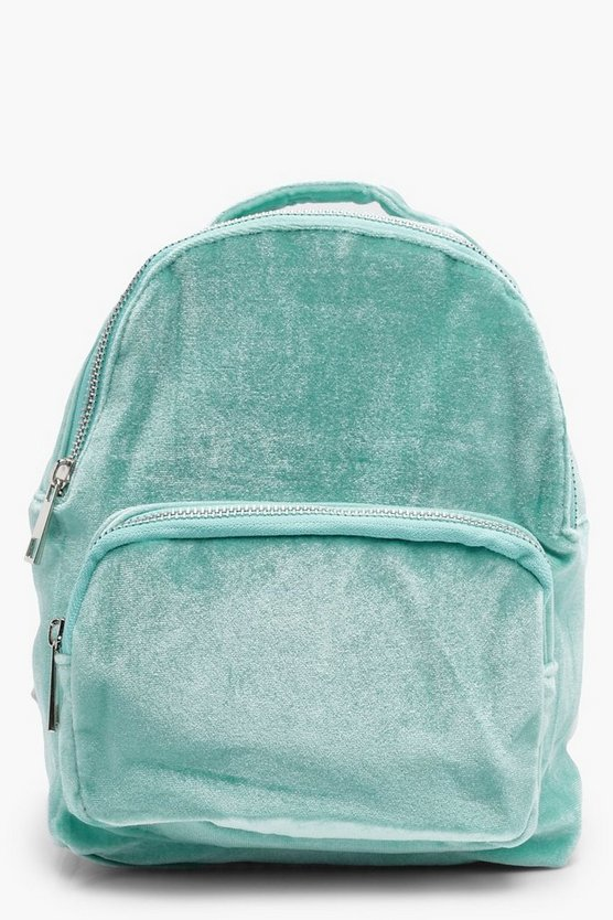 Girls Velvet Backpack