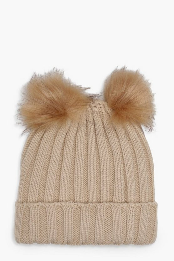 Girls Pom Beanie Hat