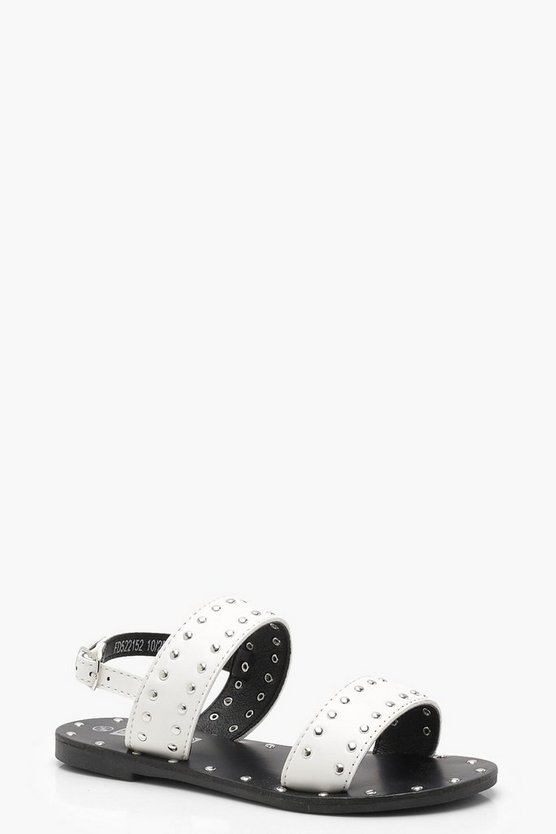 Girls Studded Detail Sandal