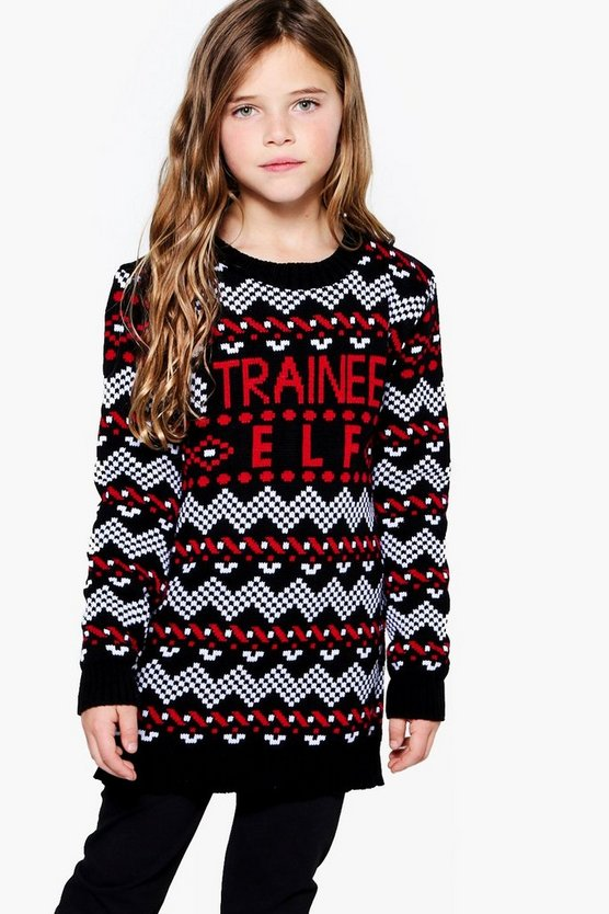 Girls Trainee Elf Knitted Dress